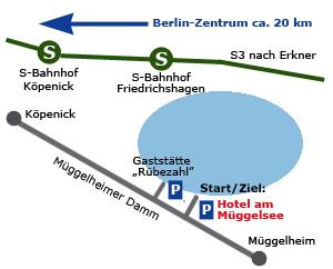Anfahrt Müggelsee-Halbmarathon