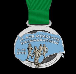 12. AOK Müggelsee-Halbmarathon Medaille
